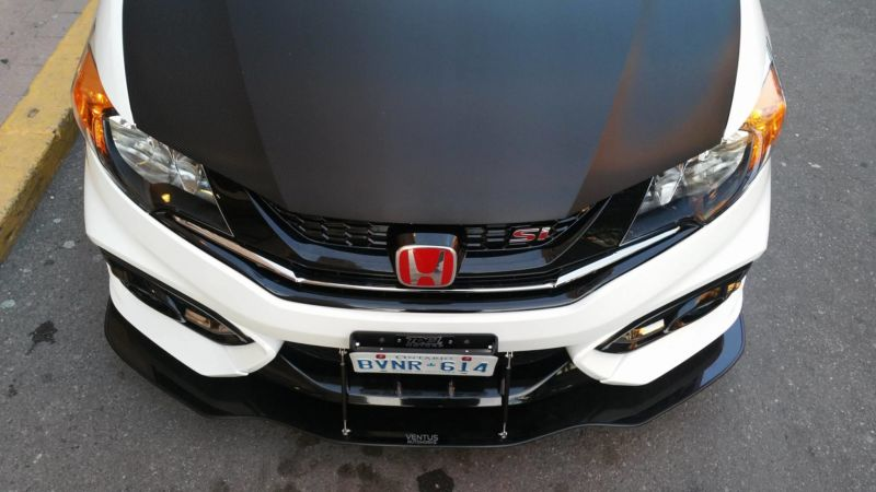 2014 2015 Honda Civic Coupe Si Front Splitter Ventus