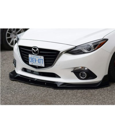 "2014+ Mazda 3 Sedan/hatchback ""LenzDesign Lip"" Front ...2014 Mazda 3 Hatchback Black"