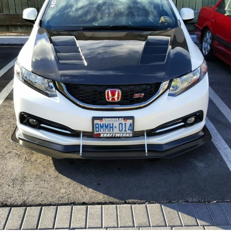"2013-2015 Honda civic Sedan ""Bayson-r style lip"" Front ..."