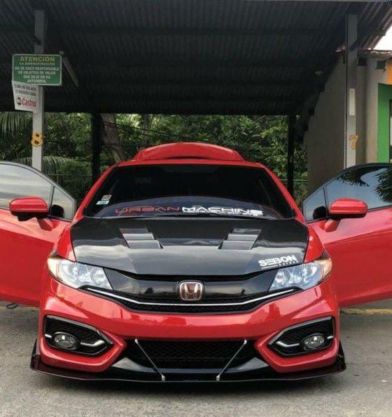 2014 2015 Honda Civic Coupe Si Front Splitter Ventus Autoworks