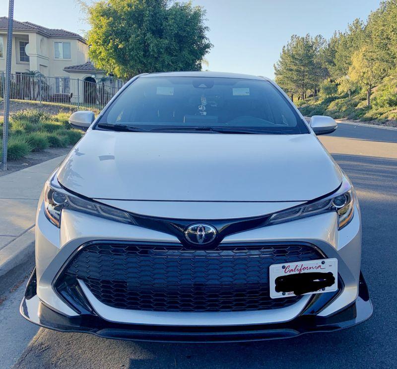 2018+ Toyota Corolla Hatchback Front Splitter